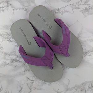 Merrell Purple Flip Flops - Size 8